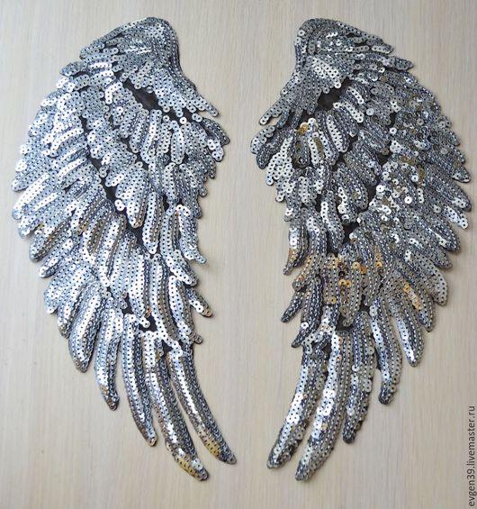 Крылья ангела.Аппликация клеевая.