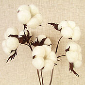 Цветы и флористика handmade. Livemaster - original item sprig of the cotton soft clouds. the colors of the skin. Handmade.