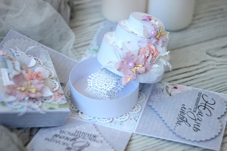 Свадебная коробочка magic box с тортиком, Открытки, Балашиха, Фото №1