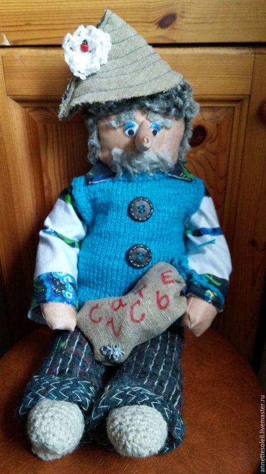 Народные куклы ручной работы. Ярмарка Мастеров - ручная работа. Купить Домовой Михалыч. Handmade. Синий, ручная авторская работа