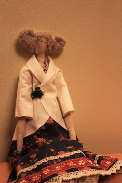 Куклы Тильды ручной работы. Ярмарка Мастеров - ручная работа. Купить Клэр. Handmade. Интерьерная кукла, хлорофайбер