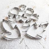 Каттер пион реалистичный (лепестки, листья,чашелистик)