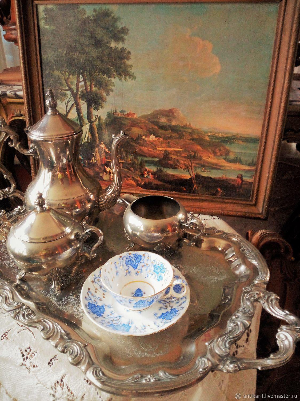 Tea and coffee set with tray. England, Vintage sets, Bari,  Фото №1