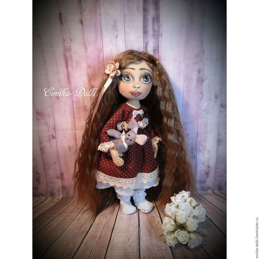 Коллекционные куклы ручной работы. Ярмарка Мастеров - ручная работа. Купить Текстильная кукла для интерьера,Лаура. Handmade. Комбинированный