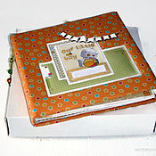 Канцелярские товары handmade. Livemaster - original item Album HAPPY CHILDHOOD for a newborn up to a year. Handmade.