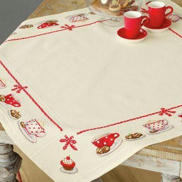 """Для дома и интерьера ручной работы. Ярмарка Мастеров - ручная работа Скатерти """"Кофе и Чай"""" Вышивка крестом. Handmade."""