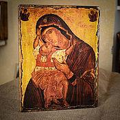 """Картины и панно handmade. Livemaster - original item Икона Божией матери """"Взыграние младенца"""". Handmade."""
