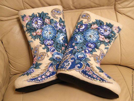 Обувь ручной работы. Ярмарка Мастеров - ручная работа. Купить валенки  под платок 8. Handmade. Валенки, зима