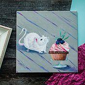 Картины и панно handmade. Livemaster - original item Picture: Still life with a white rat. Handmade.