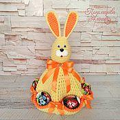 Подарки к праздникам handmade. Livemaster - original item Easter Bunny with pockets for eggs