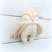 Подарки к праздникам ручной работы. Ярмарка Мастеров - ручная работа Сова – елочная игрушка мягкая. Handmade.
