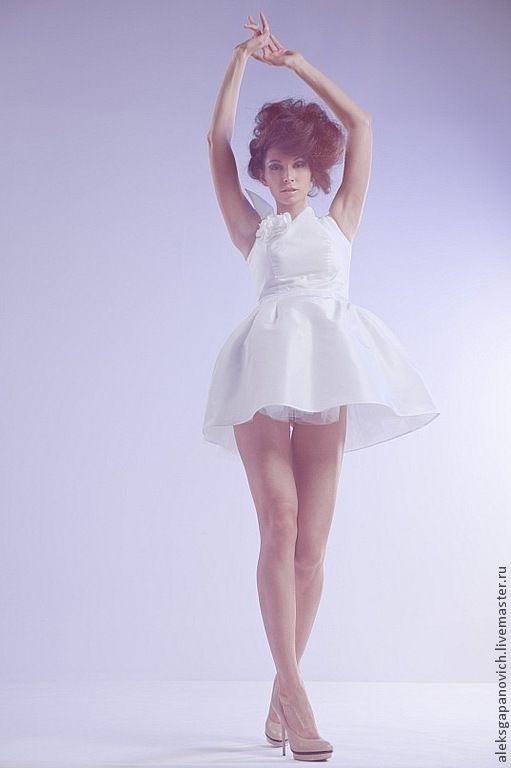 """Платья ручной работы. Ярмарка Мастеров - ручная работа. Купить Платье с""""Крылышком"""". Handmade. Белый, белый цвет, тафта"""