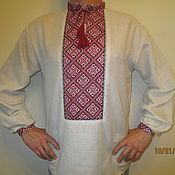 Одежда ручной работы. Ярмарка Мастеров - ручная работа Рубаха в Славянском стиле мужская. Handmade.