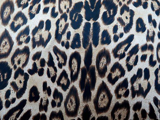 Шитье ручной работы. Ярмарка Мастеров - ручная работа. Купить Роскошный шелк с леопардовым принтом ширина 140см искусственный. Handmade.