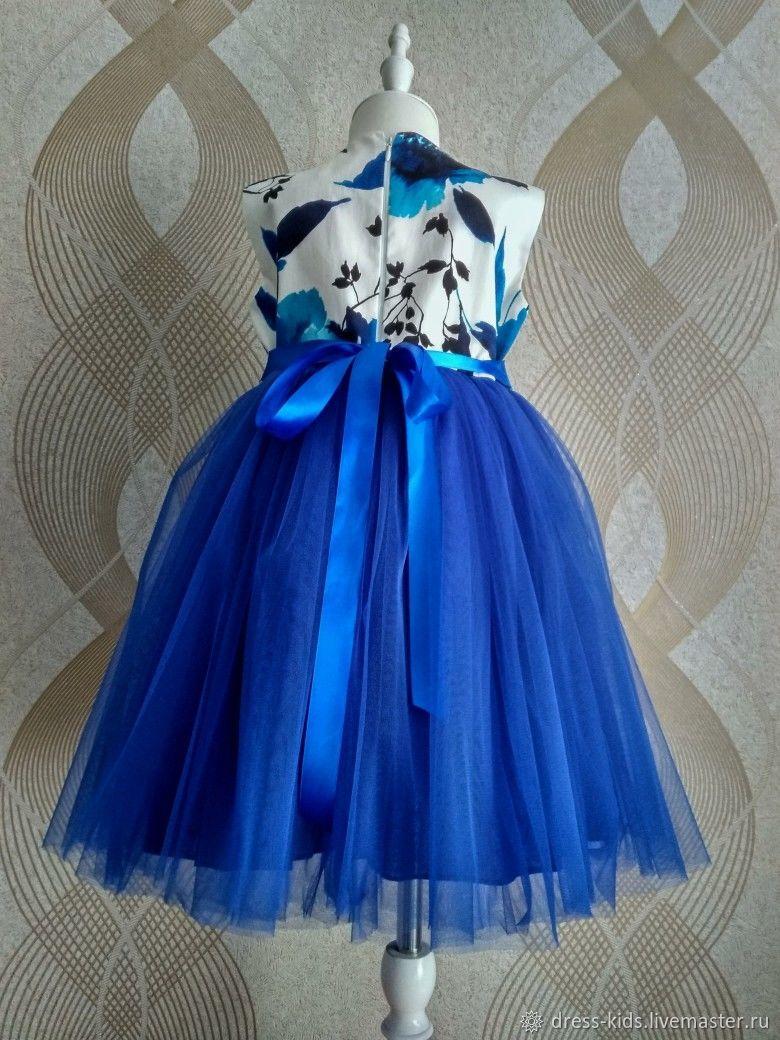 """Нарядное платье """"Синяя орхидея"""""""