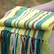 Работы для детей, ручной работы. Ярмарка Мастеров - ручная работа домотканый шарф yellow для детей. Handmade.
