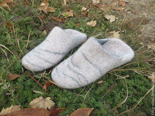Обувь ручной работы. Ярмарка Мастеров - ручная работа. Купить Тапочки валяные Tofler for Viking. Handmade. Серый