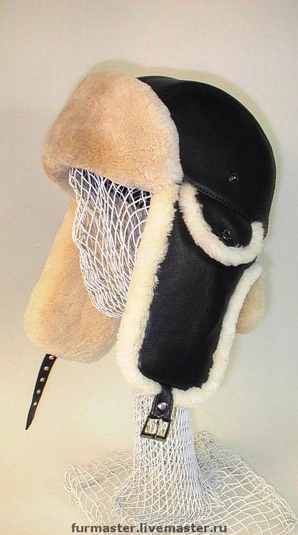 Шапки ручной работы. Ярмарка Мастеров - ручная работа. Купить Шлем с декоративными ушками и увеличенным задником. Handmade. Кожа натуральная
