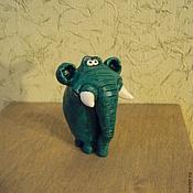 Куклы и игрушки ручной работы. Ярмарка Мастеров - ручная работа Слоник - зелененький он был. Handmade.
