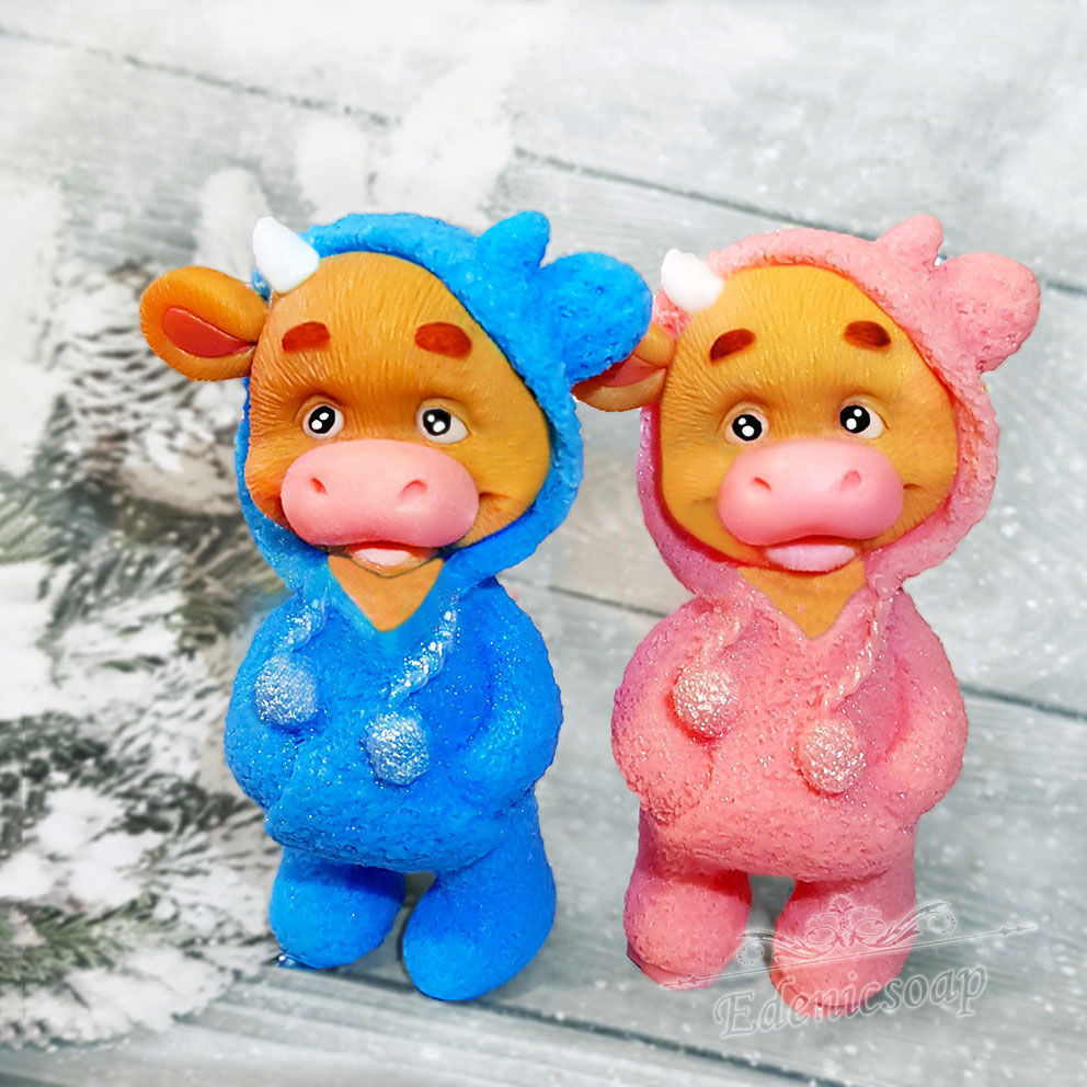 Soap 'Bull in pajamas' handmade gift for the New year, Soap, Moscow,  Фото №1