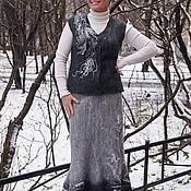 """Одежда ручной работы. Ярмарка Мастеров - ручная работа Валяный жилет """"Северная Пальмира"""". Handmade."""