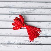 """Украшения ручной работы. Ярмарка Мастеров - ручная работа Брошь """"Красный цветок"""". Handmade."""