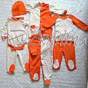 Работы для детей, ручной работы. Ярмарка Мастеров - ручная работа Большой комплект для малыша. Handmade.