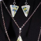 Jewelry Sets handmade. Livemaster - original item Set of Violet fireflies. Handmade.