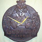 Для дома и интерьера ручной работы. Ярмарка Мастеров - ручная работа Керамические часы Берлога. Handmade.