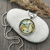 Украшения handmade. Livemaster - original item Pendant silver Oak leaves. Handmade.