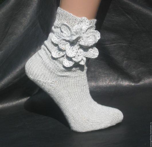 Носки, Чулки ручной работы. Ярмарка Мастеров - ручная работа. Купить Льняные носки, Вязаные носки, Женские льняные носки. Handmade.