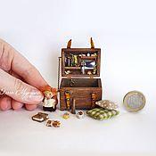 Куклы и игрушки ручной работы. Ярмарка Мастеров - ручная работа Сундучок-мини-кладовочка. Handmade.