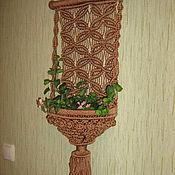 Цветы и флористика ручной работы. Ярмарка Мастеров - ручная работа Панно - кашпо. Handmade.