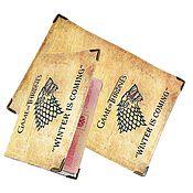 """Канцелярские товары handmade. Livemaster - original item Обложка на паспорт, обложка для документов """"Game of Thrones"""". Handmade."""