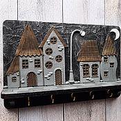 Для дома и интерьера handmade. Livemaster - original item Housekeeper Night city 6. The housekeeper wall.. Handmade.