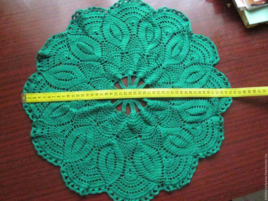 Текстиль, ковры ручной работы. Ярмарка Мастеров - ручная работа. Купить Салфетка. Handmade. Зеленый, тёмно-зелёный, вискоза 100%