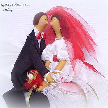 """Куклы и игрушки ручной работы. Ярмарка Мастеров - ручная работа Свадебная пара в стиле Тильда""""Страсть и любовь"""". Handmade."""