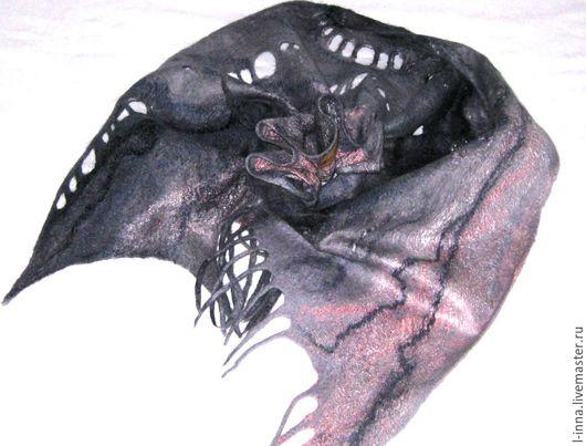 Шарфы и шарфики ручной работы. Ярмарка Мастеров - ручная работа. Купить Розовый  ручей шарф валяный. Handmade. Шарф