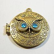 Материалы для творчества handmade. Livemaster - original item Owl pendants antique bronze. pcs. Handmade.
