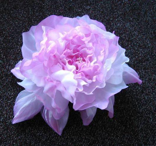 """Броши ручной работы. Ярмарка Мастеров - ручная работа. Купить Шелковая роза """"Нежность"""". Handmade. Брошь роза, шёлк"""