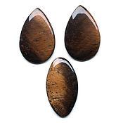 Тигровый глаз комплект №1710249 из натурального камня