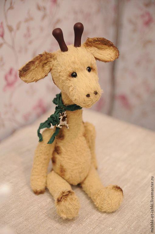 Мишки Тедди ручной работы. Ярмарка Мастеров - ручная работа. Купить жираф Олли. Handmade. Бежевый, тедди жираф