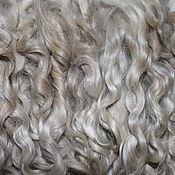 Материалы для творчества handmade. Livemaster - original item Hair for dolls from 21-23 to  cm (white, natural, unwashed). Handmade.
