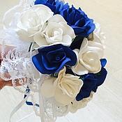 """Свадебные букеты ручной работы. Ярмарка Мастеров - ручная работа Букет ля невесты """"Синие розы"""" акция. Handmade."""