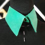handmade. Livemaster - original item Silk Collar Green. Handmade.