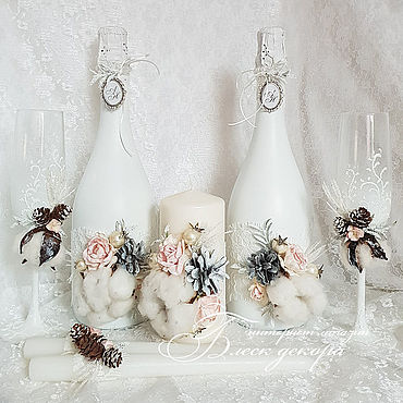 Свадебный салон ручной работы. Ярмарка Мастеров - ручная работа Зимняя свадьба набор аксессуаров. Handmade.
