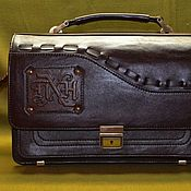 "Сумки и аксессуары handmade. Livemaster - original item Leather men`s purse ""MONOGRAM"". Handmade."