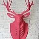 Интерьерные  маски ручной работы. Голова оленя декоративная. Николай. Интернет-магазин Ярмарка Мастеров. Декоративные элементы, лазерная резка