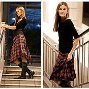 Одежда ручной работы. Ярмарка Мастеров - ручная работа Юбка-шотландка. Handmade.