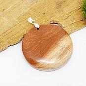 Украшения handmade. Livemaster - original item Round Jasper pendant sunset Time. Handmade.